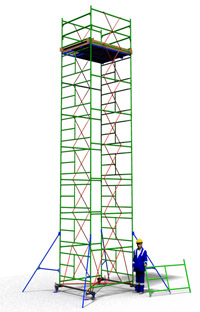 Аренда вышки туры ТТ 2000Ш с площадкой 1,66 м. х 2,0м.