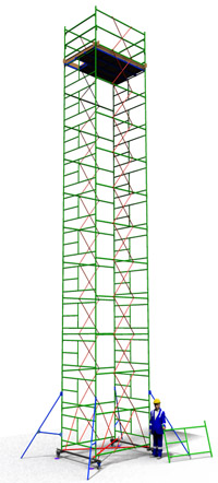 Аренда вышки туры ТТ 2400Ш с площадкой 1,66 м. х 2,4 м.