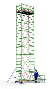 Аренда вышки туры TT2400 с площадкой 1,2 м. х 2,4 м.